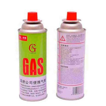 400ml 227g portable camping OEM Logo Butane Gas Can with Valve and Cap
