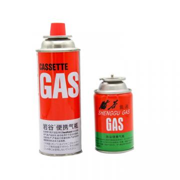 China butane gas cartridge refill 227g and tinplate BBQ butane gas cartridge for portable gas