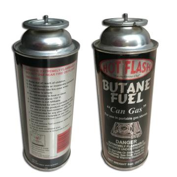 Fuel Energy Empty Tinplate Safety Powerful Butane Gas Canister 220G for camp stove