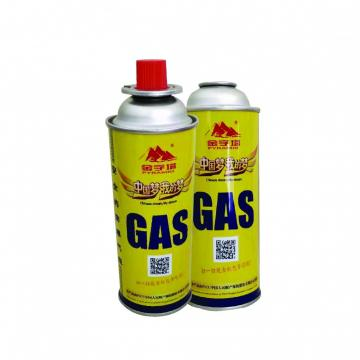 227g Butane gas Cartridge and Camping Gas Canister with Valve and Cap
