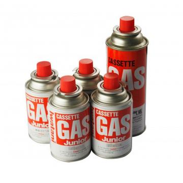 Disposable butane gas cartridge 220g and cast iron aerosol canister butane refill fuel