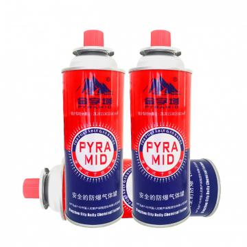 Refined portableCamping gas stove China korea MSDS Gas butane refill 190g 220g 250g refill gas cartridge