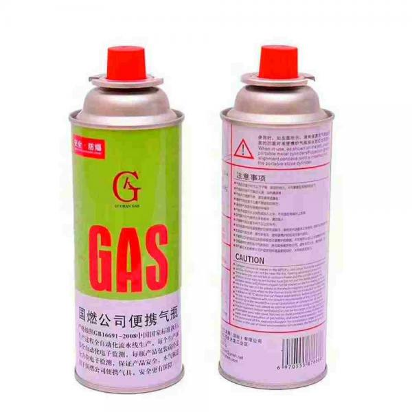 NOZZLE VALVE TYPE Cassette Butane Gas Cylinder and disposable butane gas