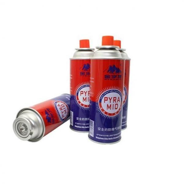 Strong quality tinplate aerosol straight butane gas can refillable camping stove use