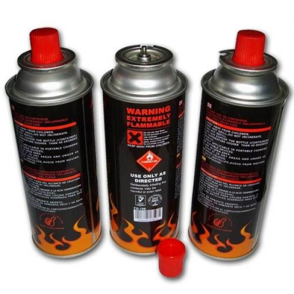 Camping Refill tin empty 220g refillable 190g aerosol camping butane gas cartridge can